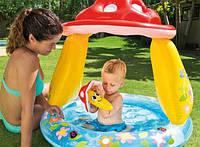 Детский надувной бассейн Intex 57114 с навесом, 45 л, 102х89 см