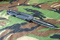 Нож выкидной фронтальный,сталь 440с,чехол