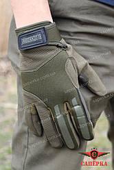 Перчатки тактические с закрытыми пальцами BLACKHAWK! Олива