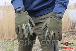 Рукавиці тактичні з закритими пальцями BLACKHAWK! Олива, фото 2