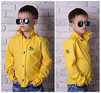 Стильная рубашка на мальчика Lacoste № 828 е.в