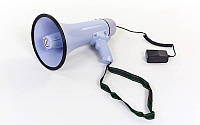 Громкоговоритель (мегафон) с аккумулятором и микрофоном 30W