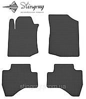 Комплект резиновых ковриков Stingray для автомобиля  Citroen C1 2005-     4шт.