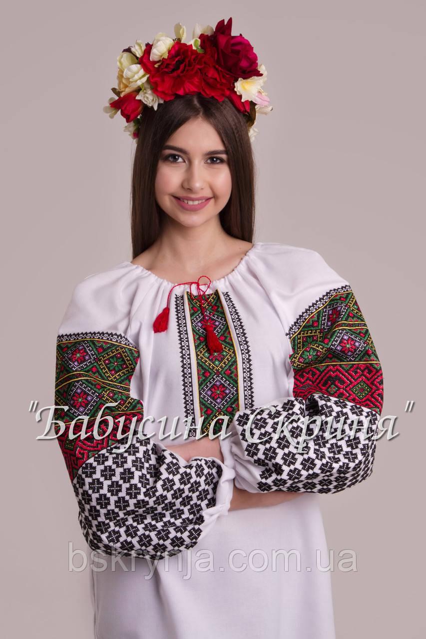 Заготовка Борщівської жіночої сорочки для вишивки нитками/бісером БС-111