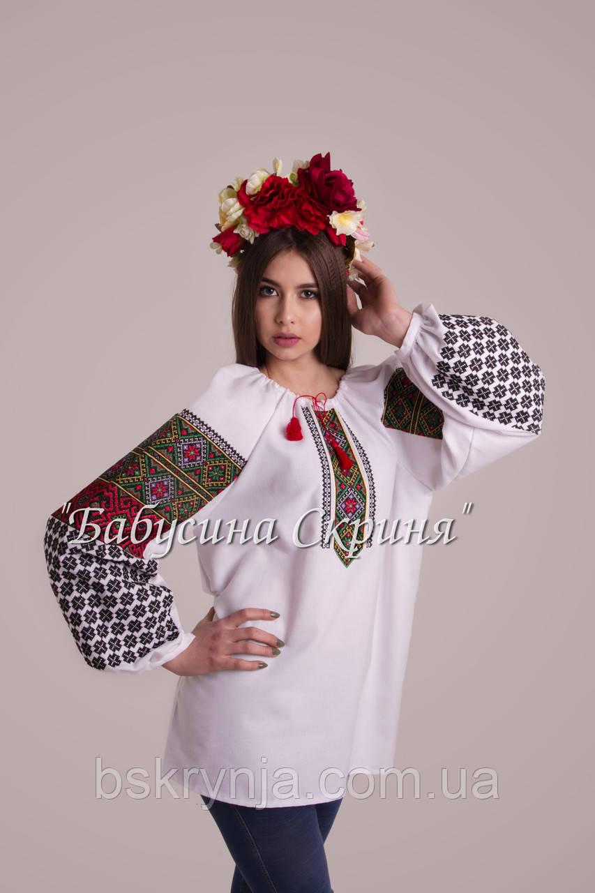 Заготовка Борщівської жіночої сорочки для вишивки нитками бісером БС ... 9a8886bb70c43