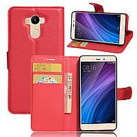 Чехол для Xiaomi Redmi 4 Standart 2/16 книжка кожа PU красный