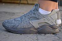 Кроссовки женские Nike air Huarache ultra grey найк хуарачи серые