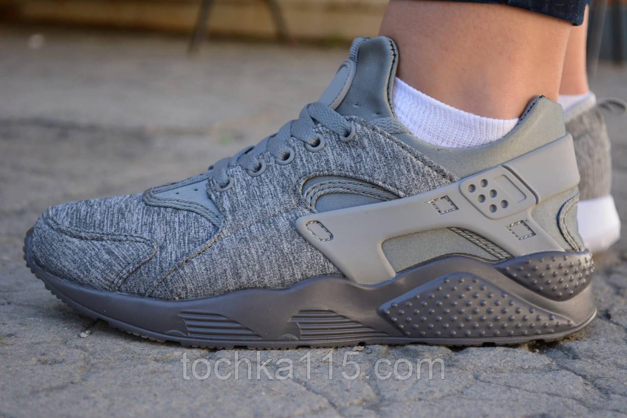 Женские кроссовки Nike air Huarache Найк хуарачи серые, копия