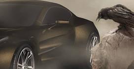 Матовая черная пленка с золотой крошкой Sott Dead Crow