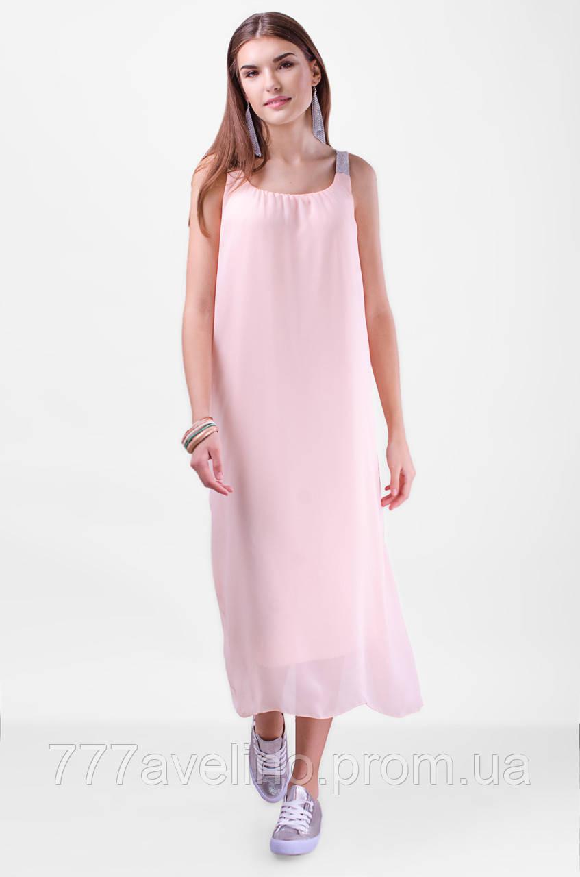 Элегантное шифоновое платье миди Турецкое
