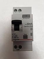 Дифференциальные автомат Legrand RX 1П+Н С 20A 30mA-AC