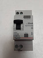 Дифференциальные автомат Legrand RX 1П+Н С 25А 30mA-AC