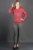 Велюровые лосины Рейчел (меланж) украшены декоративными строчками 44-52 размер, фото 1