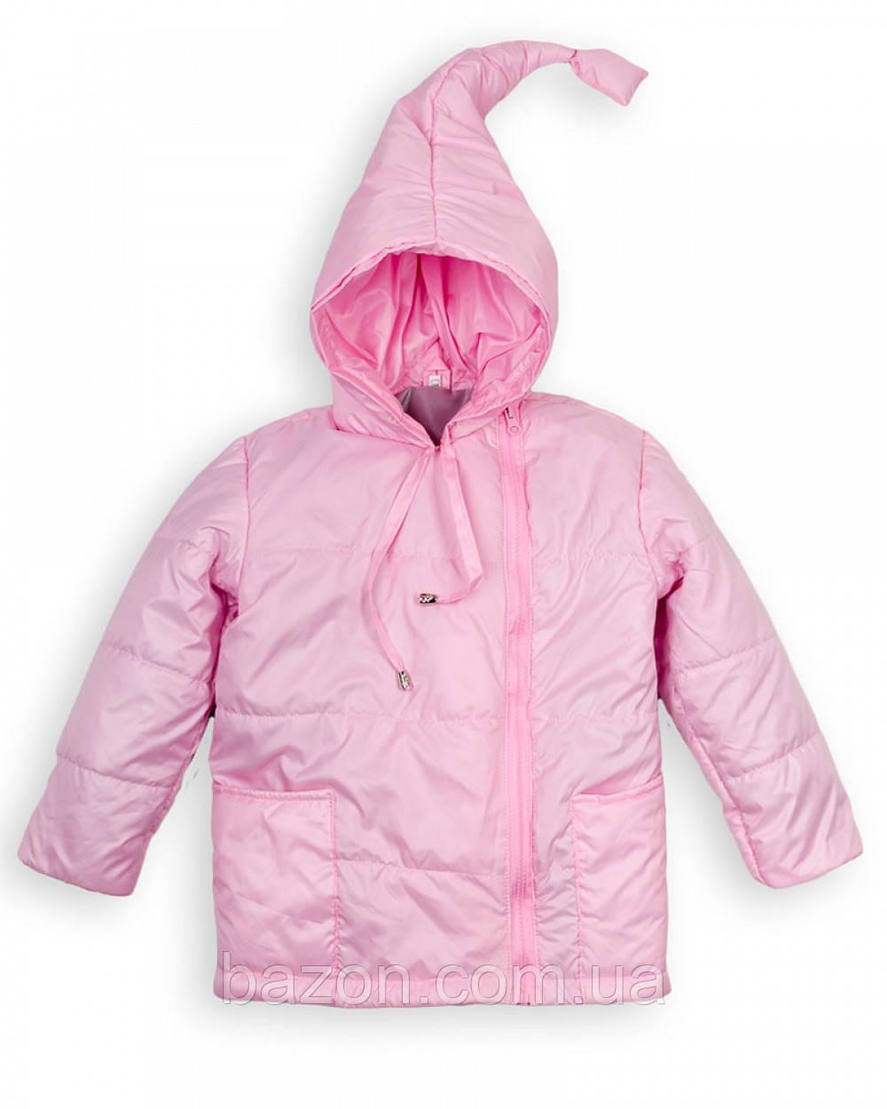 """Детская куртка """"Гномик"""" весна-осень на девочку 1-5 лет (розовая)"""