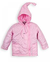 """Куртка дитяча """"Гномик"""" весна-осінь на дівчинку 1-5 років (рожева)"""