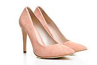 Туфли лодочки розовые замшевые BALDACCINI