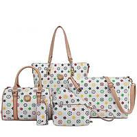 Шикарный набор сумок в стиле Louis Vuiton, 6 в 1. Отличный подарок для женщины. Хорошее качество. Код: КГ931