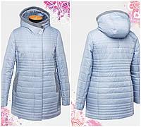 Стильная демисезонная куртка прямого кроя. Модель с вшитым воротником-капюшоном. р.48.50.52.54.56