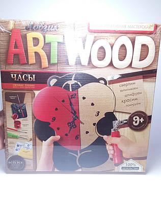 Набор для творчества Настенные часы Мишка ARTWOOD