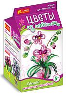 Цветы из пайеток «Орхидея» 4742
