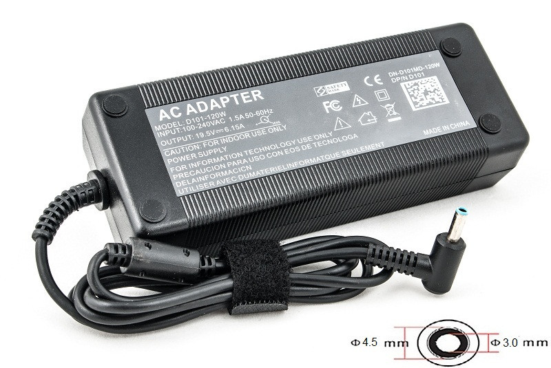 Блок питания для ноутбуков PowerPlant HP 220V, 120W: 19.5V (4.5*3.0)
