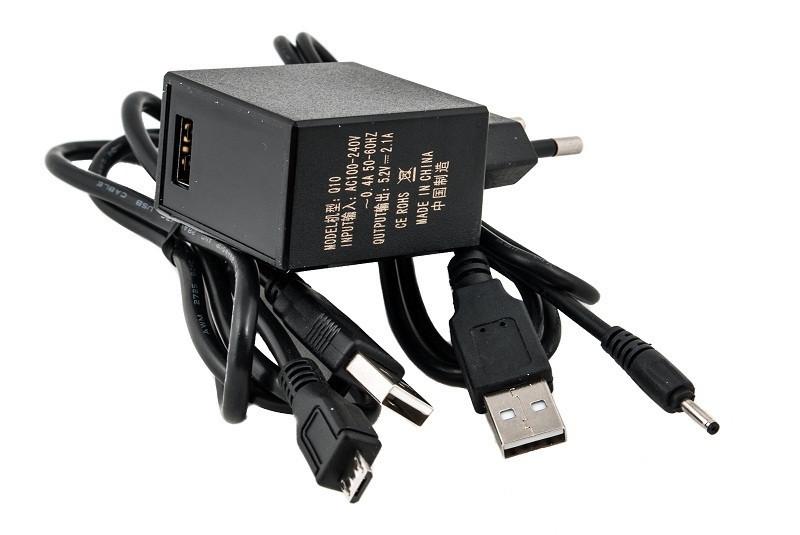 Блок питания для планшетов (зарядное устройство) PowerPlant IBM/LENOVO 220V 11W: 5.2V 2.2A (Micro