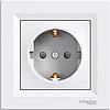 EPH2900121 Розетка с заземляющим контактом Asfora, белый 16А