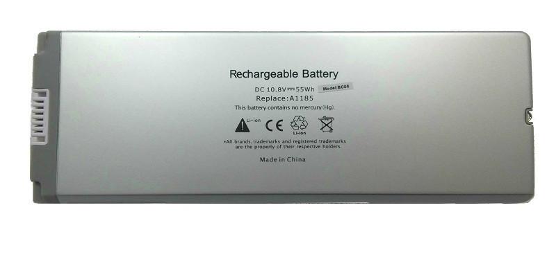 "Аккумулятор PowerPlant для ноутбуков APPLE MacBook 13"" White (A1185) 10,8V 5200mAh"