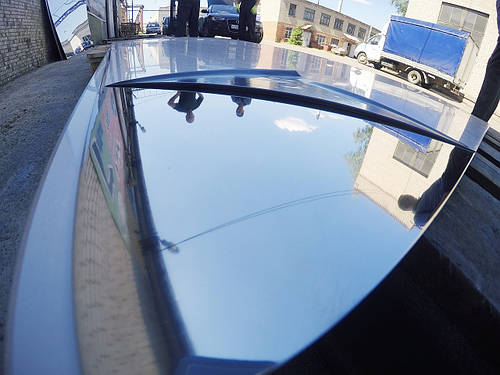 Лист нержавеющий 1,5х1250х2500мм AISI 304 (08Х18Н10) BA+PVC зеркальная поверхность, пищевой