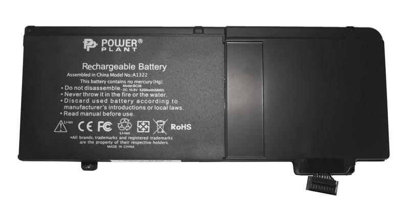 "Аккумулятор PowerPlant для ноутбуков APPLE MacBook Pro 13"" (A1322) 10,8V 5200mAh"