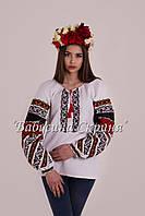 Заготовка Борщівської жіночої сорочки для вишивки нитками/бісером БС-113, фото 1