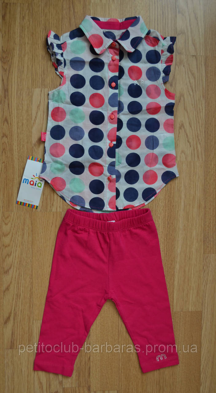 Дитячий літній комплект (блуза+бриджі трикотажні) для дівчинки (Maia, Туреччина)