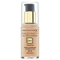 Max Factor Тональный крем 3в1 Facefinity All Day Flawless 3-in-1 Foundation SPF 20 30 ml. № 30 Porcelain
