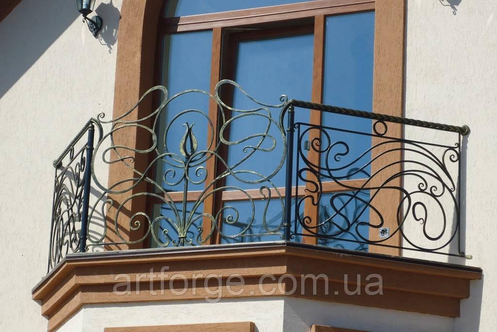 Кованые ограждения балконов, лестниц, террас