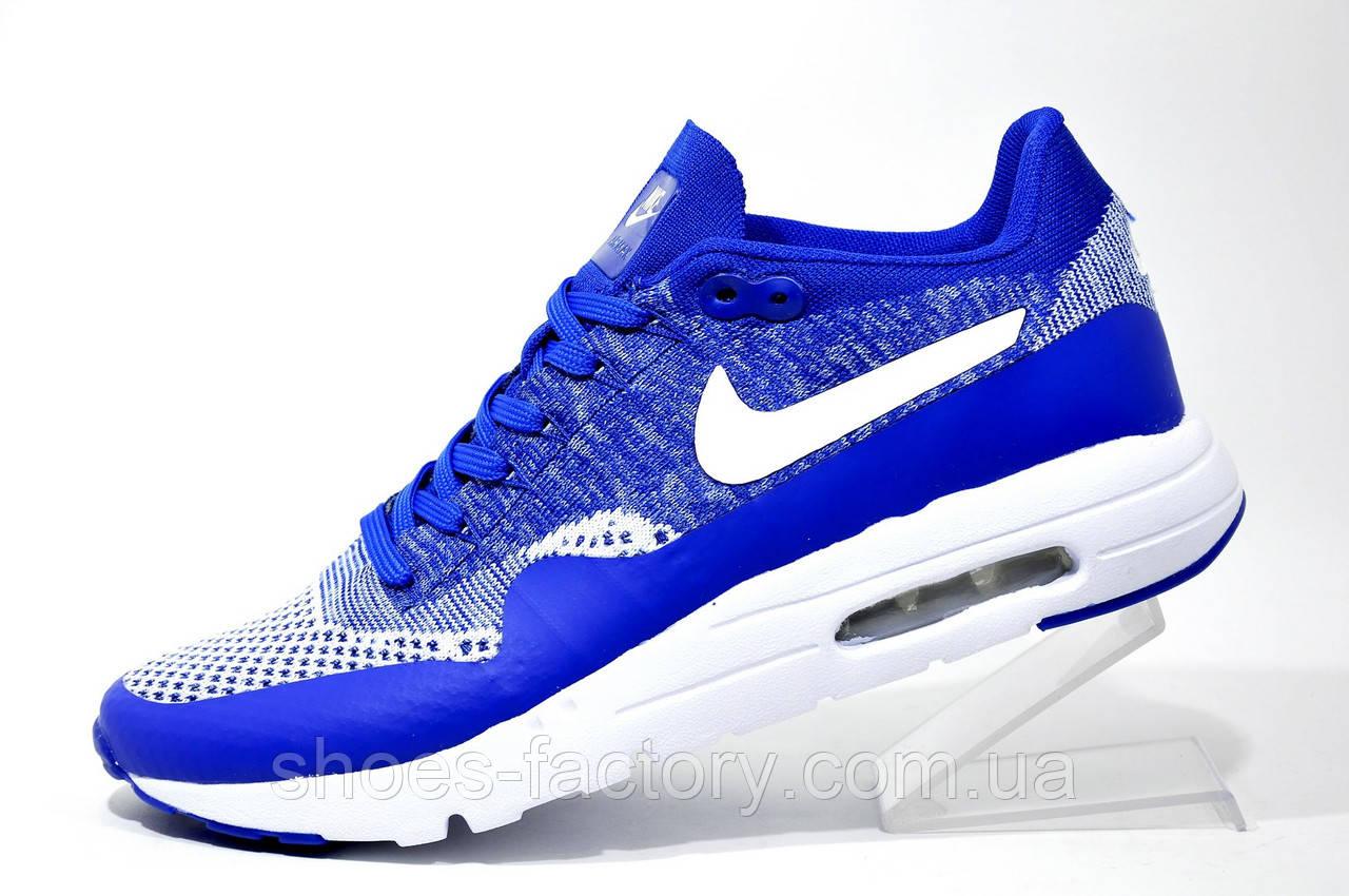 Кроссовки мужские в стиле Nike Air Max 1 Ultra Flyknit, Blue\White