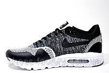 Кроссовки мужские в стиле Nike Air Max 1 Ultra Flyknit, Gray\Black\White, фото 3