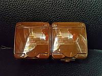 Двойной розеточный блок с крышкой