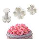 """Плунжер для мастики """"Незабудки цветы"""" набор из 3 форм, фото 2"""