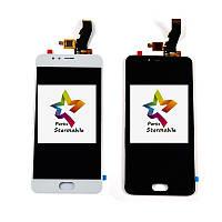 Дисплей для мобильного телефона Meizu M5s, белый, с тачскрином