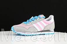 Женские кроссовки Adidas Originals ZX400 Grey Pink Адидас ZX серые, фото 2