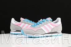 Женские кроссовки Adidas Originals ZX400 Grey Pink Адидас ZX серые, фото 3