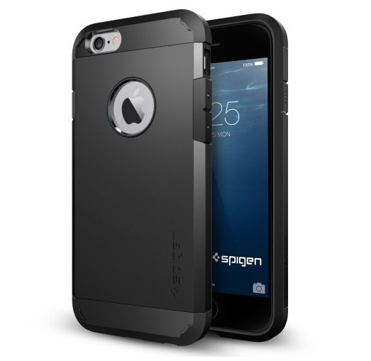 Чехол-накладка SGP Tough Armor для Apple iPhone 6 чёрный