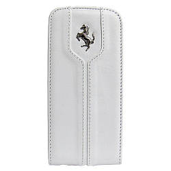 Чехол-флиппер CG Mobile Ferrari Leather Flap Montecarlo для Apple iPhone 5S/5 белый