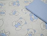 """Отрез хлопковой ткани Bora """"Свитерок"""", цвет голубой ( № 680 б) размер 55*160, фото 3"""