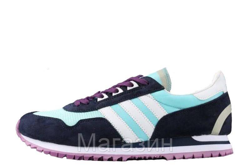 Женские кроссовки Adidas Originals ZX400 Blue Black Purple Адидас ZX черные