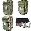 Тактический армейский походный штурмовой 3-х дневный рюкзак на 50 литров олива Cordura 1000D , фото 3