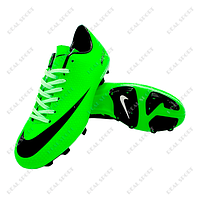 Бутсы (копы) Nike Mercurial Victory Green FB180001 (р-р 36-44, салатовый)
