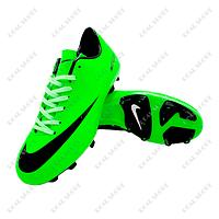 Бутсы (копы) Nike Mercurial Victory Green FB180001 (р-р 36-44, салатовый)