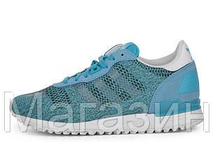 Женские кроссовки Adidas ZX700 EM Адидас ZX голубые, фото 2