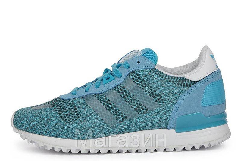Женские кроссовки Adidas ZX700 EM Адидас ZX голубые